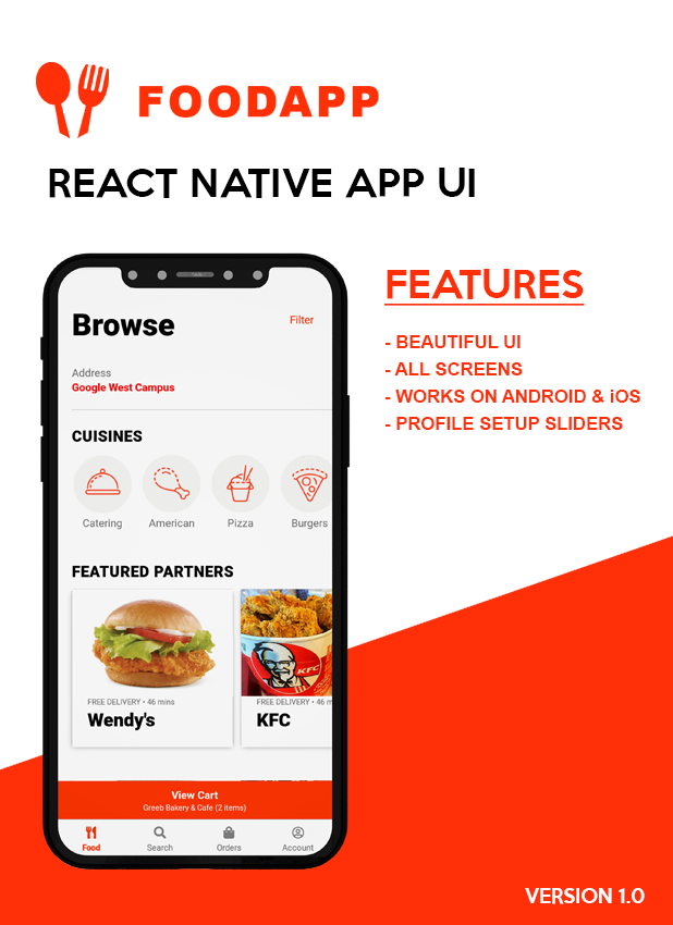 FoodApp React Native Theme - 1