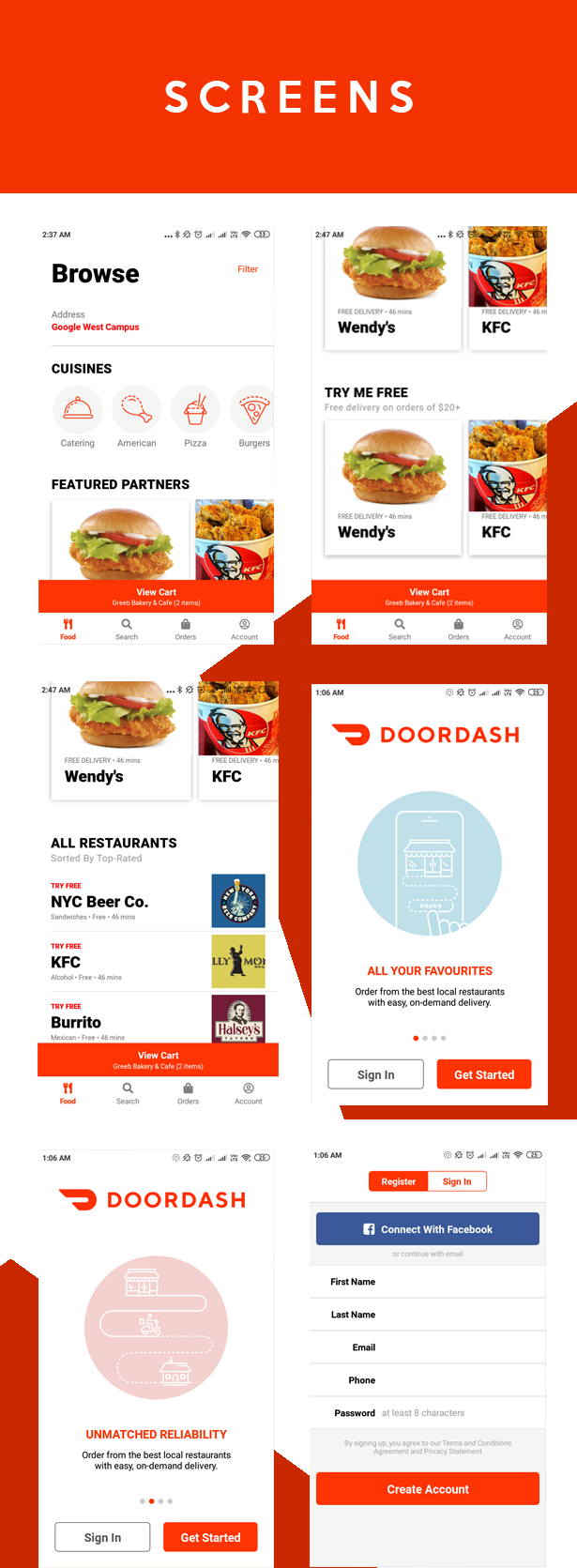 FoodApp React Native Theme - 5